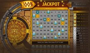 Juego de Bingo: Aztec Keno Progressive Jackpot